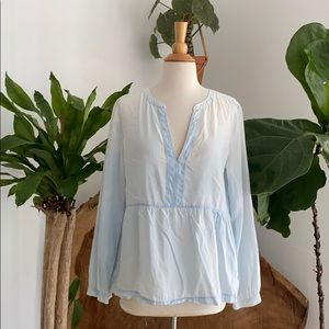 Loft Soft Faded Style Blue Top 🍃